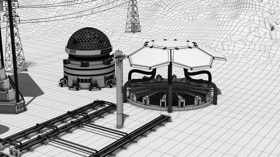 Futuristische exoplanetarische Einrichtung royalty-free 3d model - Preview no. 9