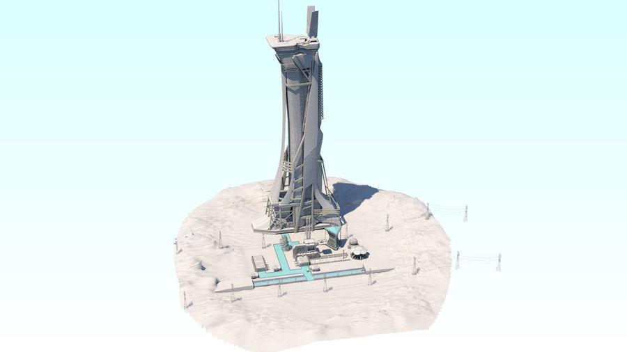 Futuristische exoplanetarische Einrichtung royalty-free 3d model - Preview no. 26
