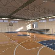 농구 경기장 3d model
