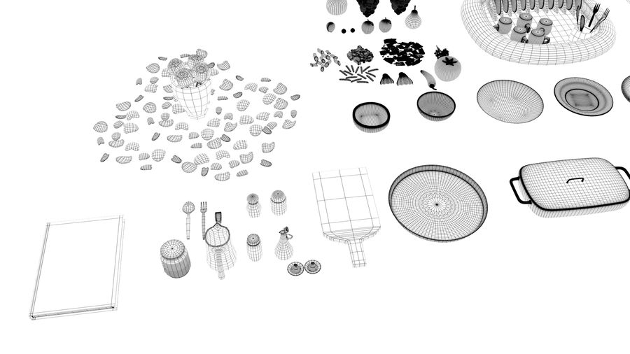 Cartoon Assets Pack royalty-free 3d model - Preview no. 37