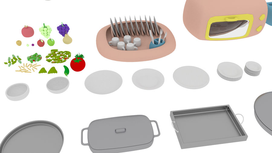 Cartoon Assets Pack royalty-free 3d model - Preview no. 49