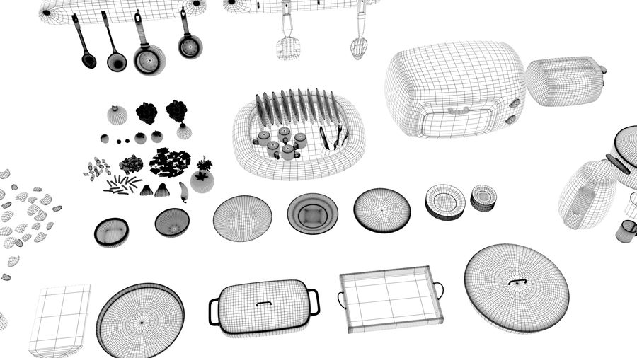 Cartoon Assets Pack royalty-free 3d model - Preview no. 46