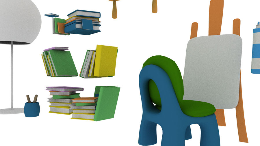 Cartoon Assets Pack royalty-free 3d model - Preview no. 20