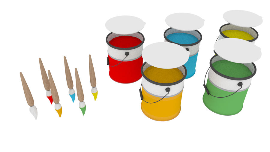 Cartoon Assets Pack royalty-free 3d model - Preview no. 59