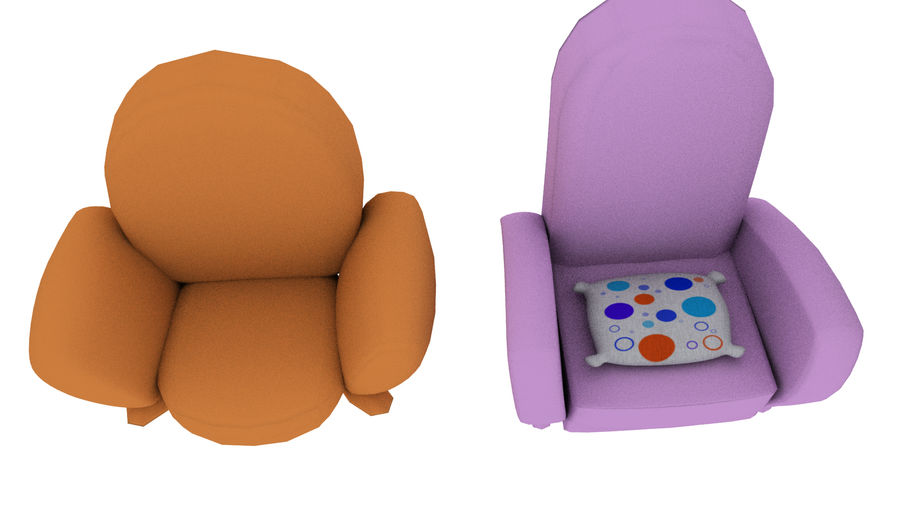 Cartoon Assets Pack royalty-free 3d model - Preview no. 16