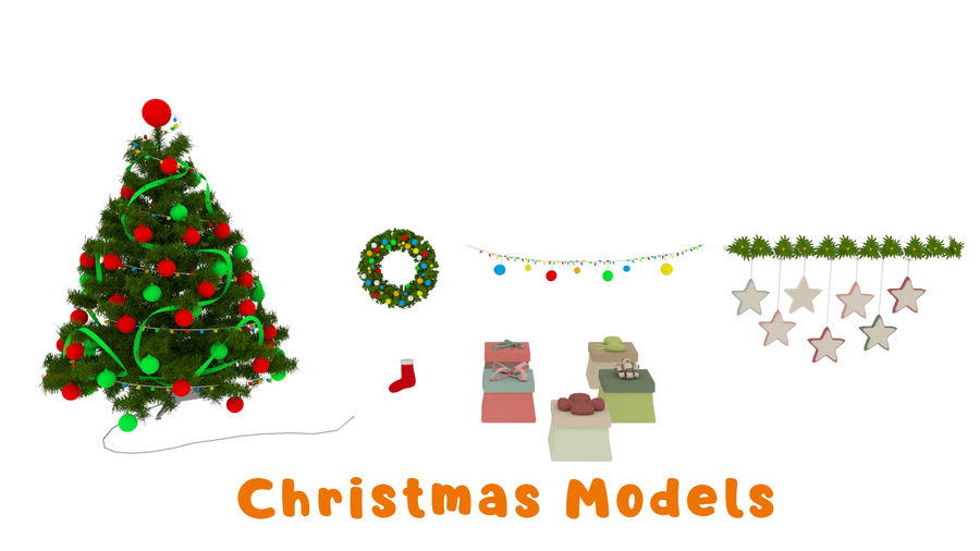 Cartoon Assets Pack royalty-free 3d model - Preview no. 2