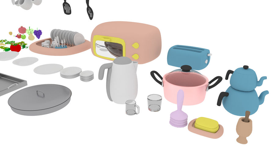 Cartoon Assets Pack royalty-free 3d model - Preview no. 47