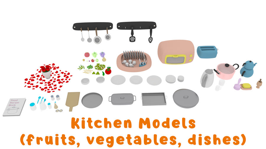 Cartoon Assets Pack royalty-free 3d model - Preview no. 34
