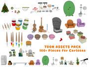 Cartoon Assets Pack 3d model