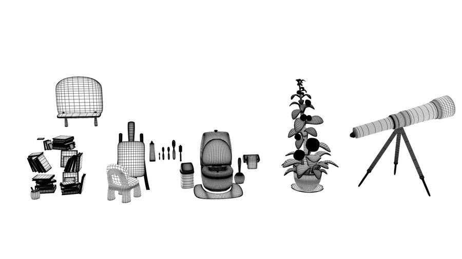 Cartoon Assets Pack royalty-free 3d model - Preview no. 25