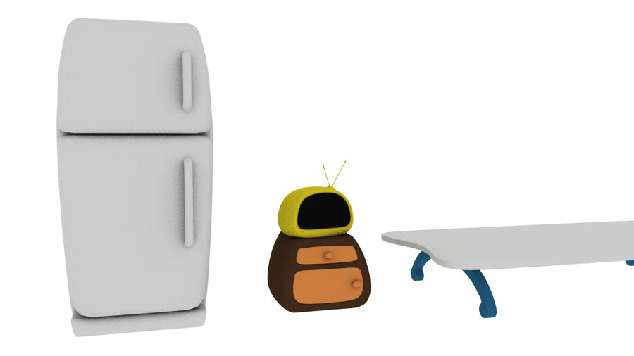Cartoon Assets Pack royalty-free 3d model - Preview no. 10