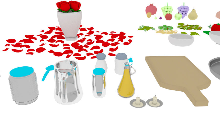 Cartoon Assets Pack royalty-free 3d model - Preview no. 40