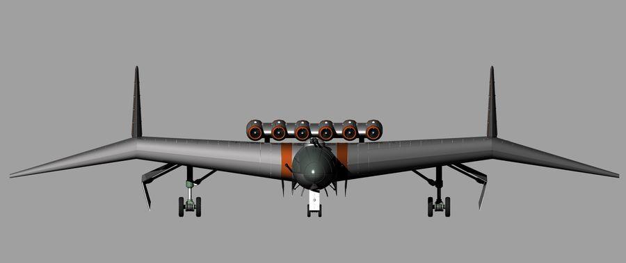 Arado Ar - E555 (1943) royalty-free 3d model - Preview no. 11