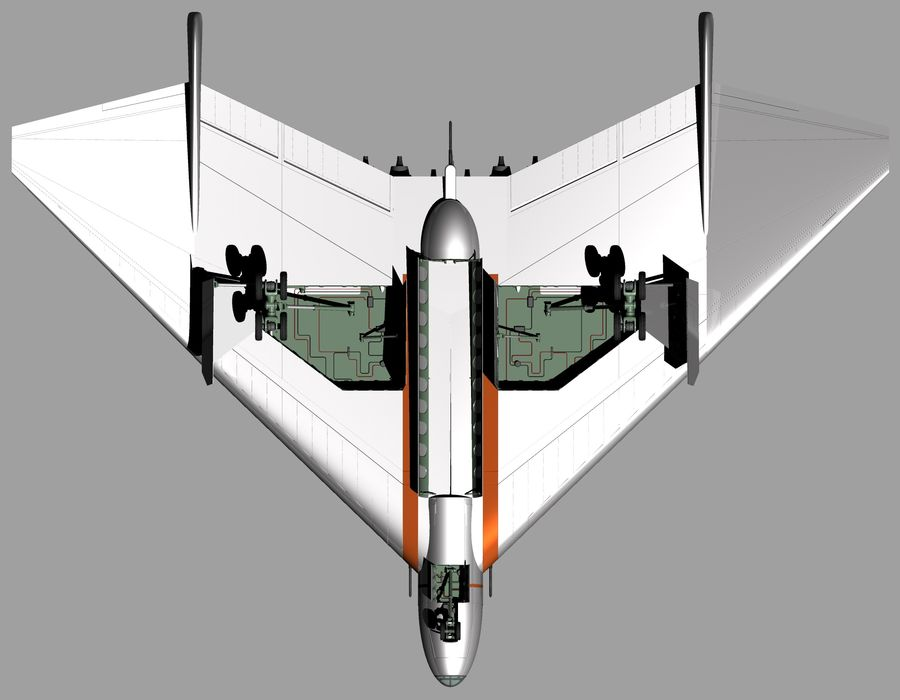 Arado Ar - E555 (1943) royalty-free 3d model - Preview no. 15