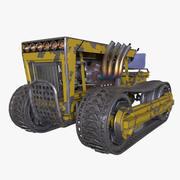 Tractor met sporen 3d model