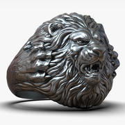 Lion ring for 3d printing 3d model