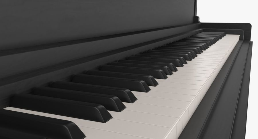 Klavier royalty-free 3d model - Preview no. 6