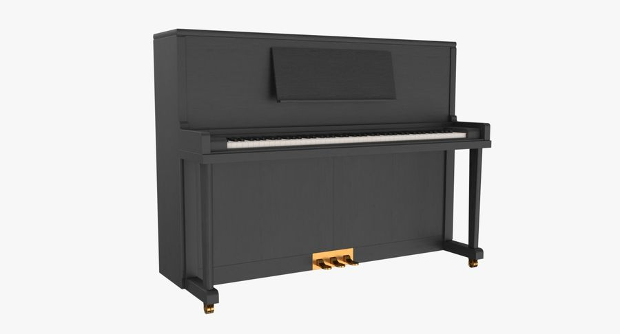 Klavier royalty-free 3d model - Preview no. 2