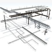 Coleção de tubulações 3d model