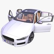 通用欧洲轿车 3d model