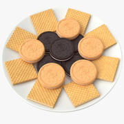 Biscuits Plate 3d model