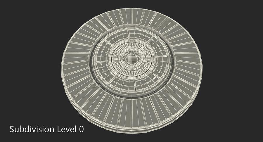 Alien UFO royalty-free 3d model - Preview no. 11