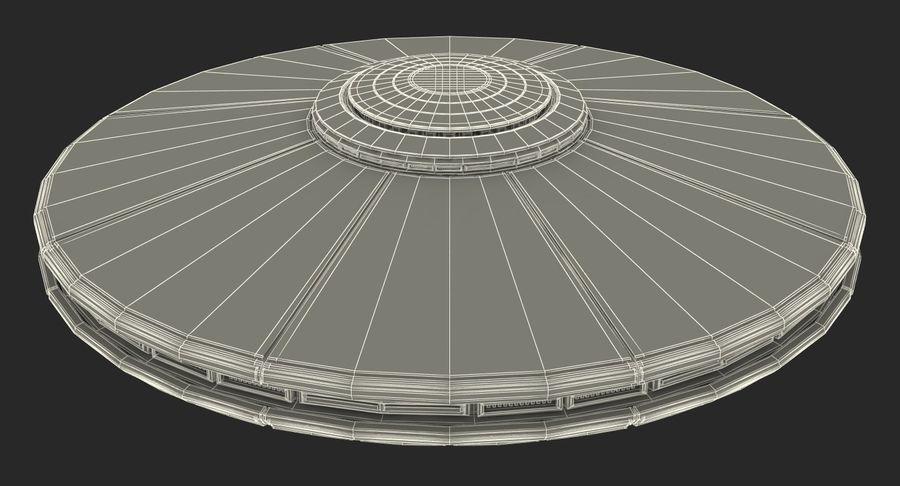 Alien UFO royalty-free 3d model - Preview no. 18