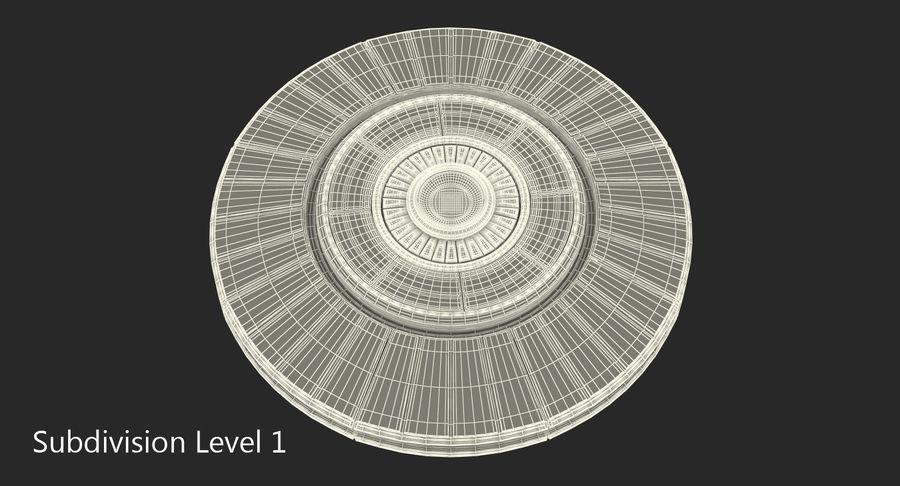 Alien UFO royalty-free 3d model - Preview no. 12