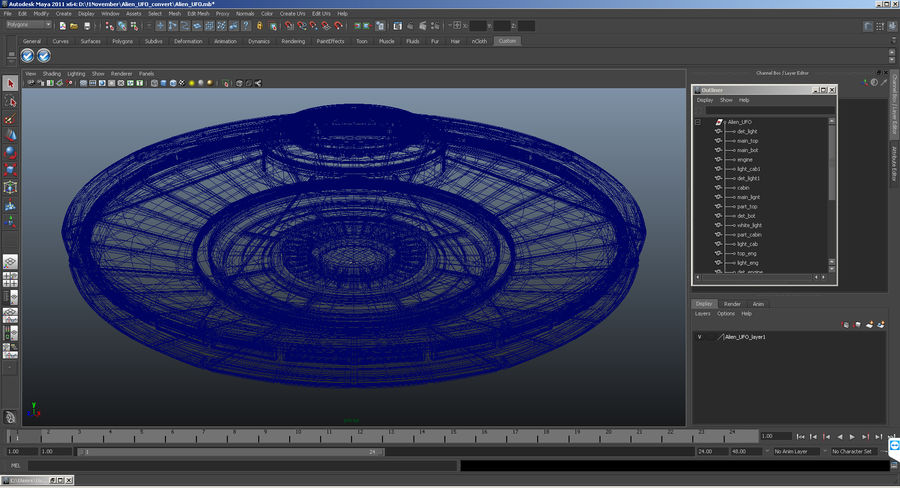 Alien UFO royalty-free 3d model - Preview no. 15
