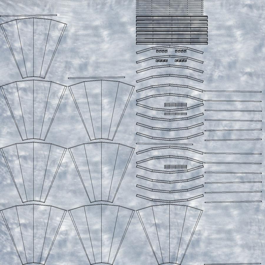 Alien UFO royalty-free 3d model - Preview no. 13