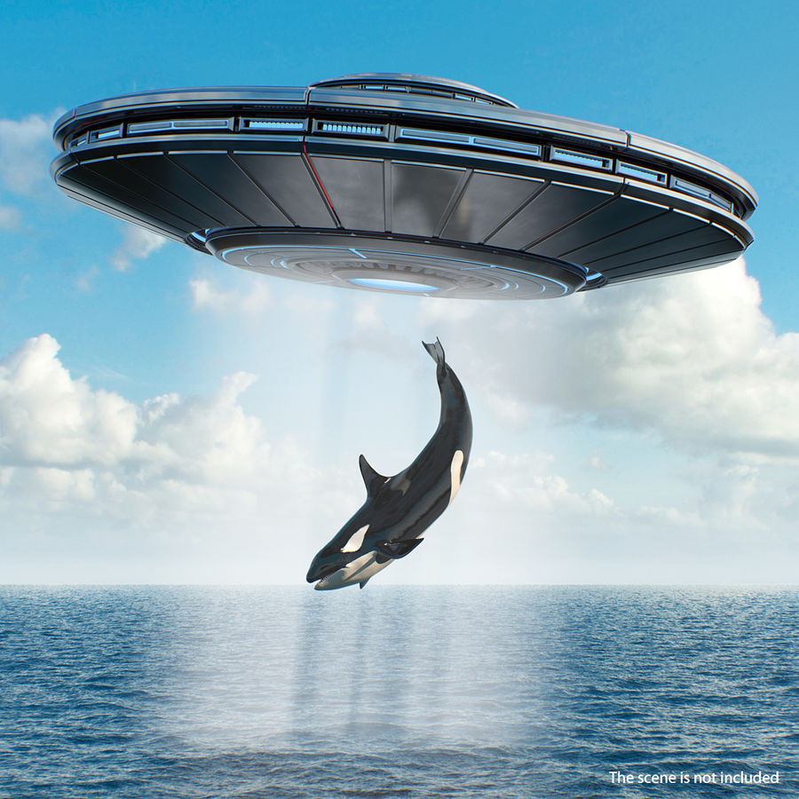 Alien UFO royalty-free 3d model - Preview no. 3