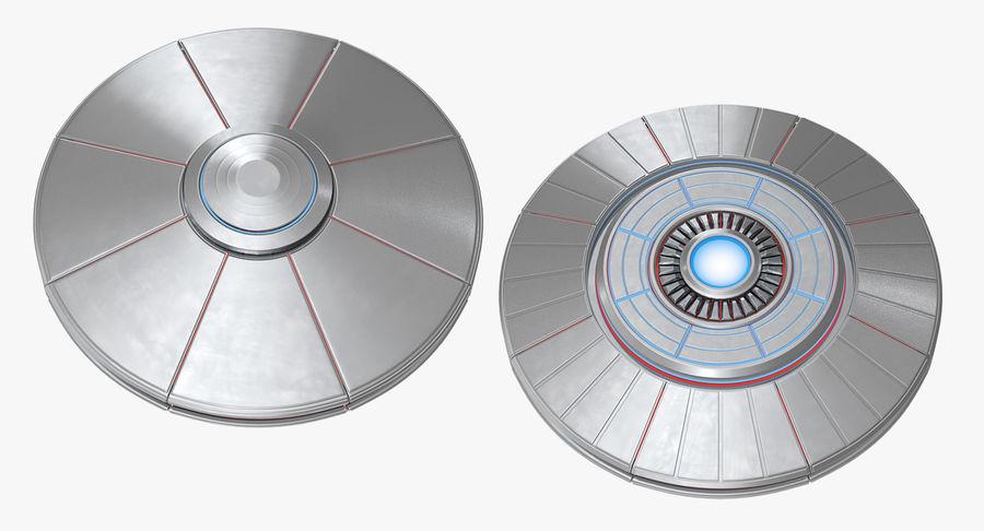 Alien UFO royalty-free 3d model - Preview no. 10