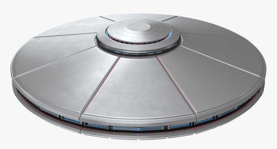 Alien UFO royalty-free 3d model - Preview no. 4