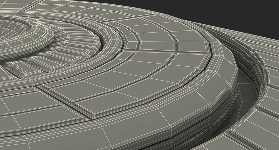 Alien UFO royalty-free 3d model - Preview no. 23