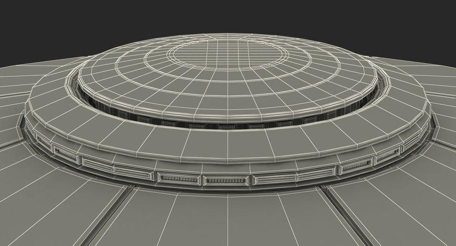 Alien UFO royalty-free 3d model - Preview no. 20