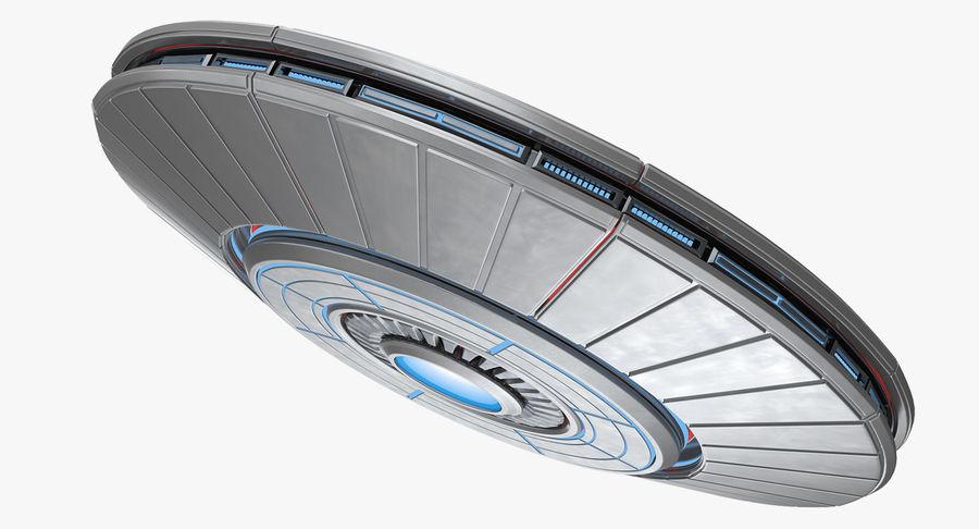 Alien UFO royalty-free 3d model - Preview no. 2