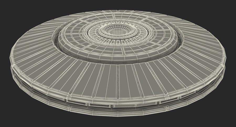 Alien UFO royalty-free 3d model - Preview no. 19