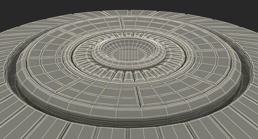 Alien UFO royalty-free 3d model - Preview no. 21