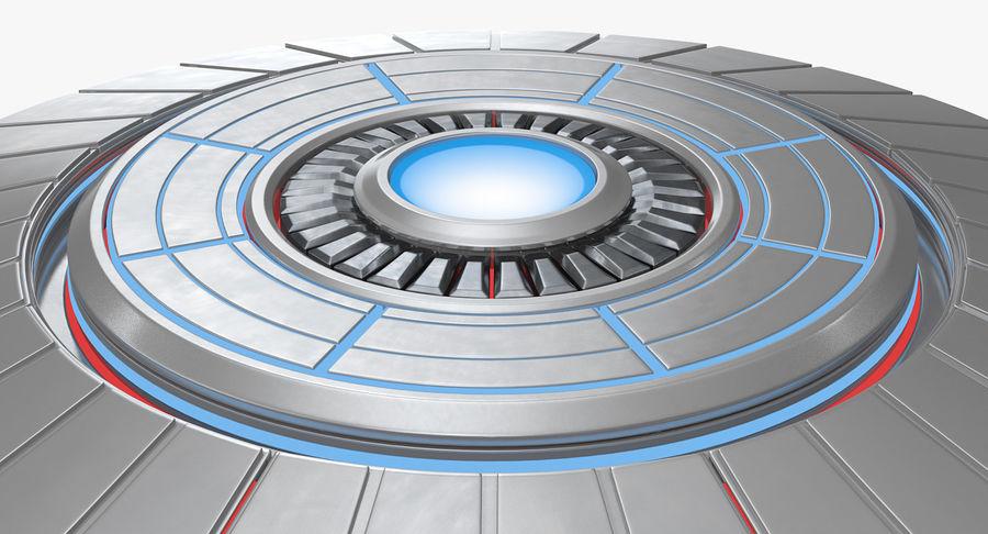 Alien UFO royalty-free 3d model - Preview no. 7
