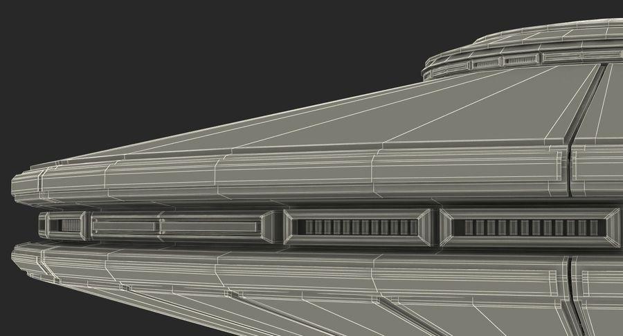 Alien UFO royalty-free 3d model - Preview no. 22