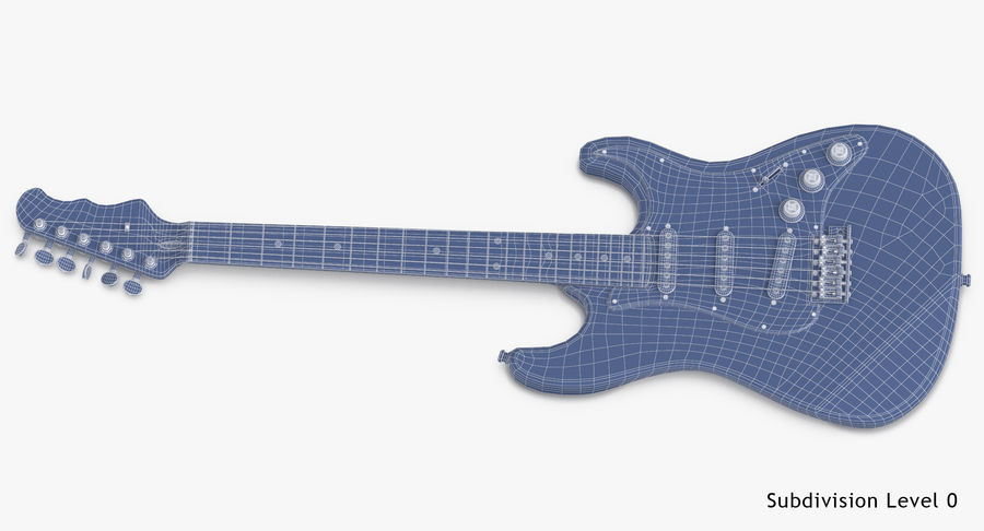 Electric Guitar royalty-free 3d model - Preview no. 17