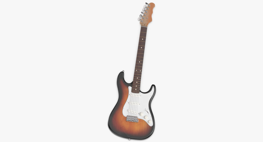 Electric Guitar royalty-free 3d model - Preview no. 6