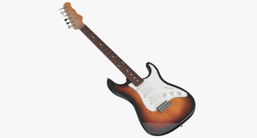 Electric Guitar royalty-free 3d model - Preview no. 2