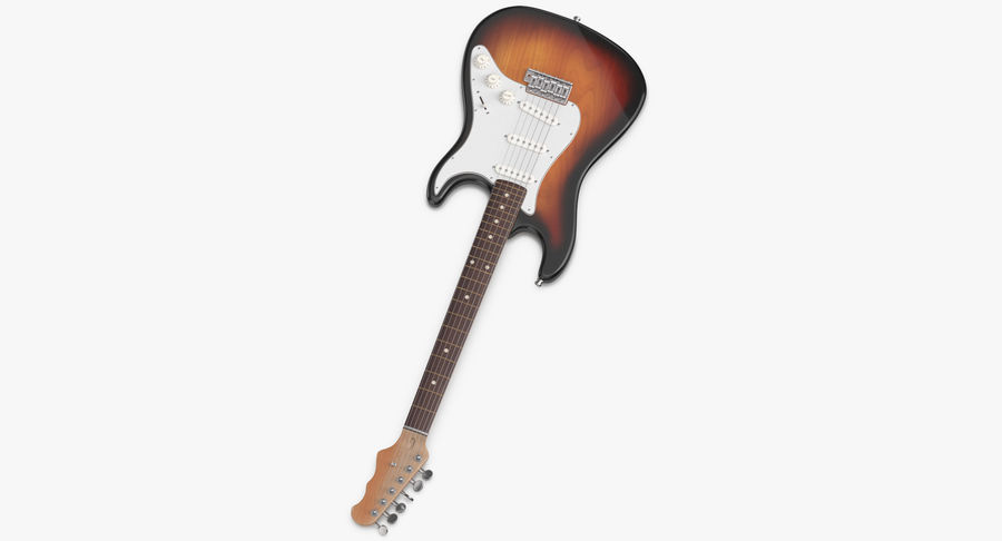 Guitare électrique royalty-free 3d model - Preview no. 4