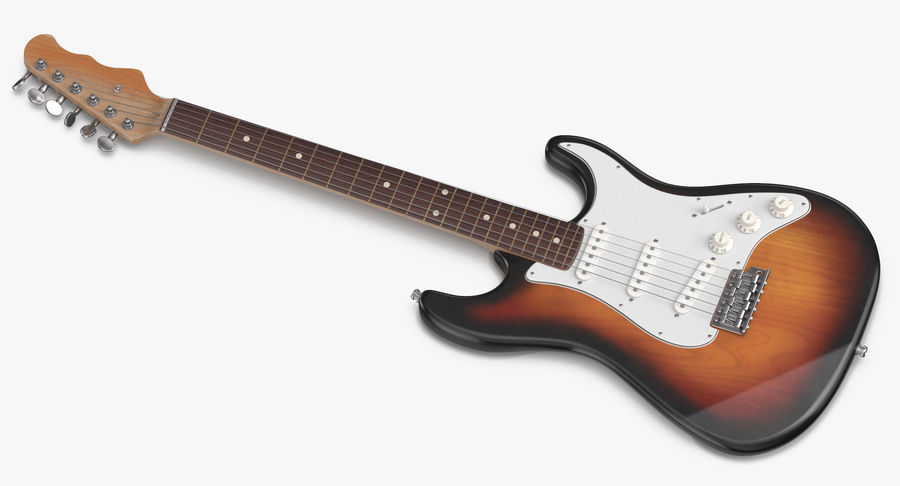 Electric Guitar royalty-free 3d model - Preview no. 7