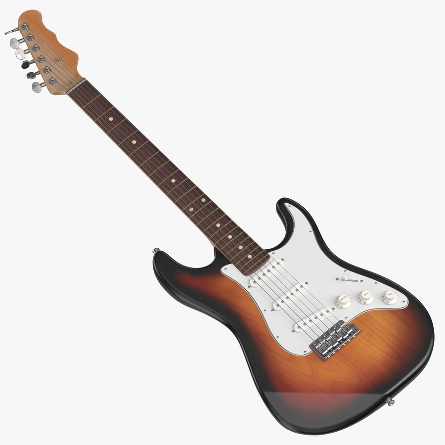 Electric Guitar royalty-free 3d model - Preview no. 1