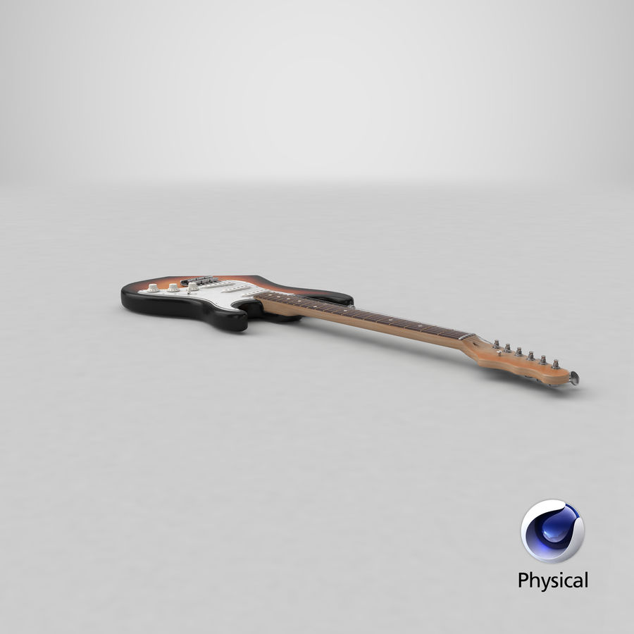 Electric Guitar royalty-free 3d model - Preview no. 20