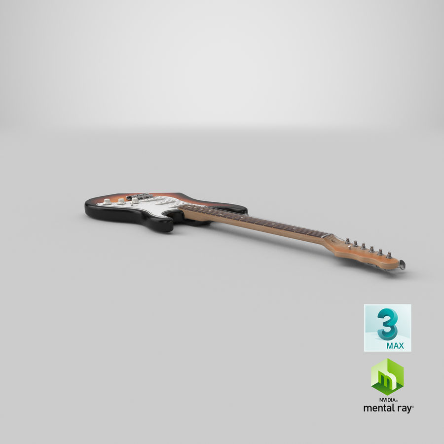 Electric Guitar royalty-free 3d model - Preview no. 23