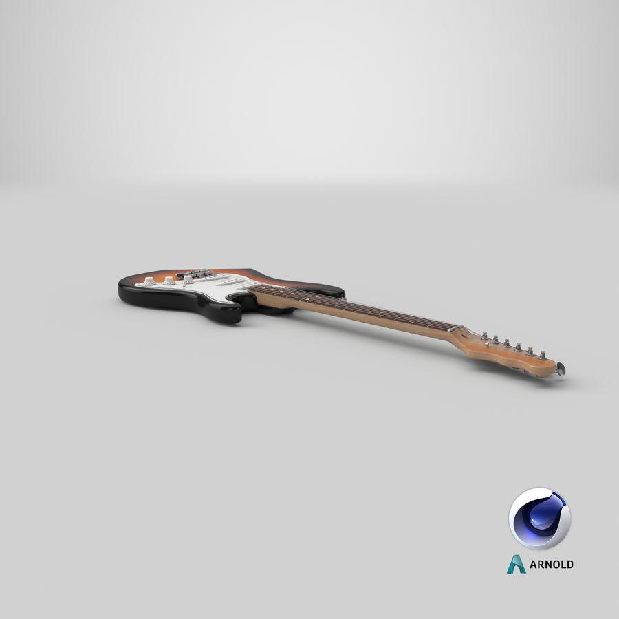 Guitare électrique royalty-free 3d model - Preview no. 21