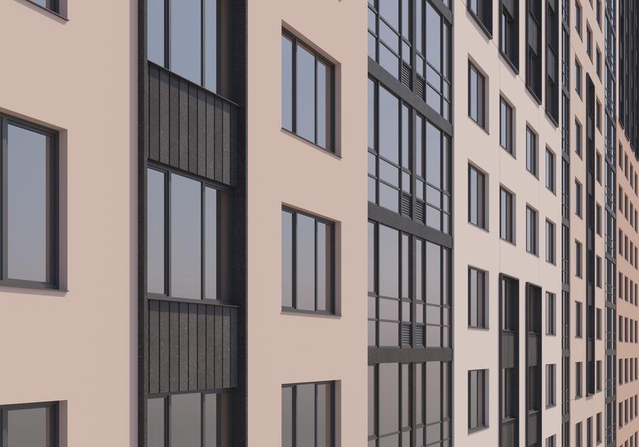 Edificio alto royalty-free modelo 3d - Preview no. 9